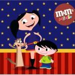 Mini M&M Show da Luna Azul e Vermelho