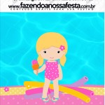 Mini Pastilha Docile Pool Party Menina Loira