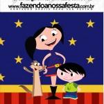 Mini Pastilha Docile Show da Luna Azul e Vermelho
