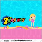 Mini Trakinas Personalizados Pool Party Menina Loira