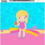 Molde Qualquer tamanho Pool Party Menina Loira