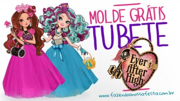 Molde Tubete Ever After High