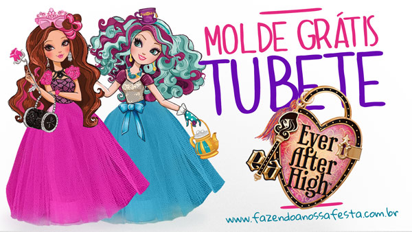 Molde Tubete Ever After High