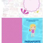 Passaporte Personalizados Pool Party Menina Loira