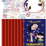 Passaporte Show da Luna Azul e Vermelho