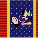 Pé de Moleque Yoki Show da Luna Azul e Vermelho