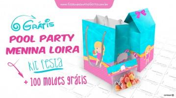Personalizados Pool Party Menina Loira Grátis para Imprimir