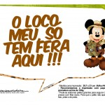 Plaquinha Divertidas Mickey Safari 1