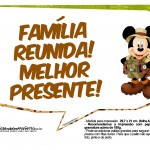 Plaquinha Divertidas Mickey Safari