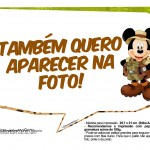 Plaquinha Divertidas Mickey Safari 2