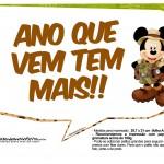 Plaquinha Divertidas Mickey Safari 3