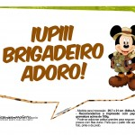 Plaquinha Divertidas Mickey Safari 4