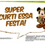 Plaquinha Divertidas Mickey Safari 5