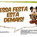 Plaquinha Divertidas Mickey Safari 6