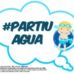 Plaquinhas Divertidas Pool Party Menino Loiro 12