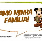 Plaquinhas Mickey Safari 10