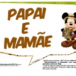 Plaquinhas Mickey Safari 13