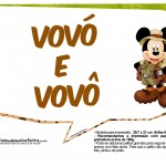 Plaquinhas Mickey Safari 14