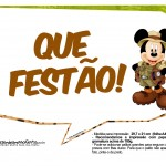 Plaquinhas Mickey Safari 15