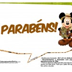 Plaquinhas Mickey Safari 18