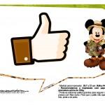Plaquinhas Mickey Safari 19
