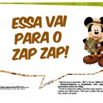 Plaquinhas Mickey Safari 2