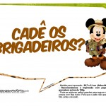 Plaquinhas Mickey Safari 5