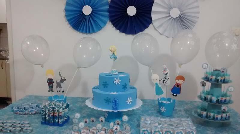 Rosetas Festa Frozen da Maria Helena