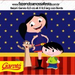 Rótulo Baton Garoto Show da Luna Azul e Vermelho