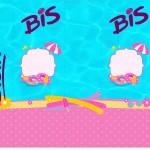 Rótulo Bis Pool Party Menina Loira