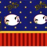 Rótulo Bis Show da Luna Azul e Vermelho