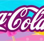 Rótulo Coca-cola Pool Party Menina Loira