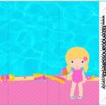 Rótulo Pirulito Mastigavel Pool Party Menina Loira