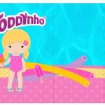 Rótulo Toddynho Pool Party Menina Loira