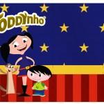Rótulo Toddynho Show da Luna Azul e Vermelho