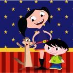 Rótulo Tubetes Show da Luna Azul e Vermelho