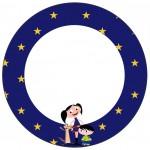 Rótulo para Toppers Show da Luna Azul e Vermelho