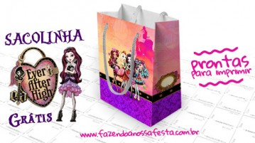 Sacolinha Ever After High para Imprimir