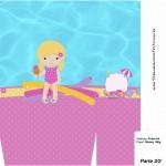 Sacolinha Surpresa Pool Party Menina Loira - Parte 1
