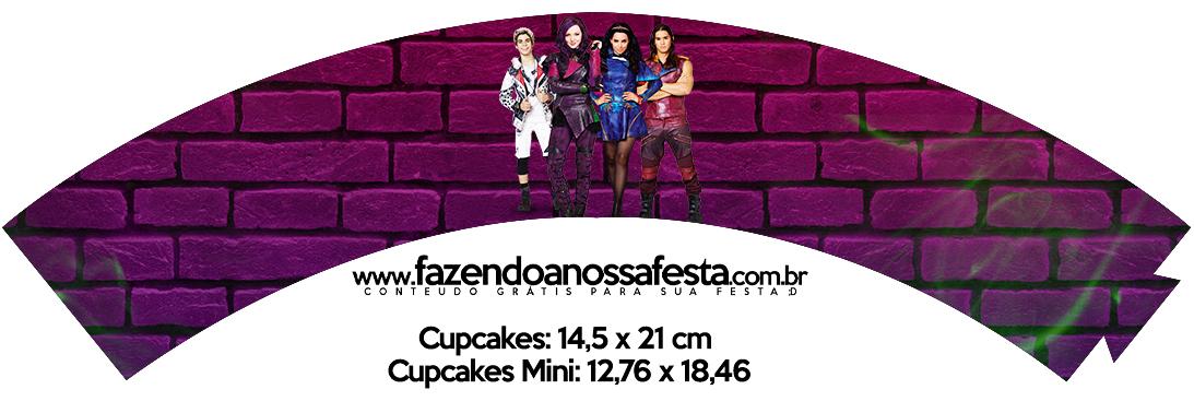 Saias Wrappers para Cupcakes 2 Descendentes