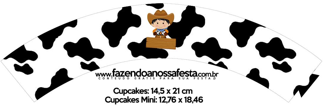 Saias Wrappers para Cupcakes 2 Kit Fazendinha Menino