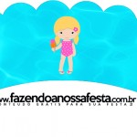 Saias Wrappers para Cupcakes 2 Pool Party Menina Loira