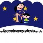Saias Wrappers para Cupcakes 2 Show da Luna Azul e Vermelho