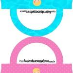 Saquinho de Balas Bolsinha Personalizados Pool Party Menina Loira