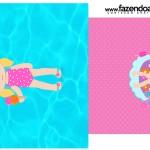 Saquinho de Cha Pool Party Menina Loira