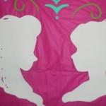 Molde Silhueta Anna e Elsa para Imprimir