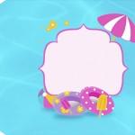 Tag Agradecimento Pool Party Menina Loira