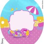 Tubete Oval Personalizados Pool Party Menina Loira