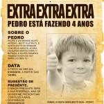 Convite Jornal antigo com texto