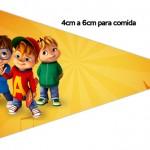 Bandeirinha Sanduiche 7 Alvin e os Esquilos Desenho